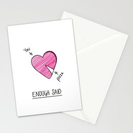 You > Pizza Stationery Cards