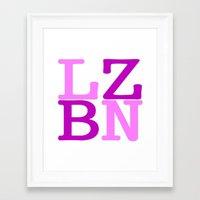 lesbian Framed Art Prints featuring LZBN Lesbian by SLANTEDmind.com
