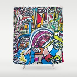 Study For A Face Shower Curtain