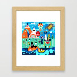 Kitty Island Framed Art Print