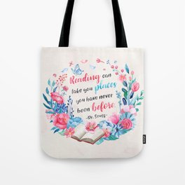 Reading can take you places Tote Bag