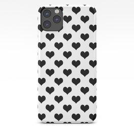 White And Black Hearts Minimalist iPhone Case
