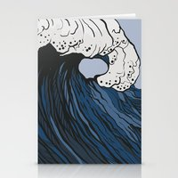 anxiety Stationery Cards featuring Anxiety by Ksenia Palfy