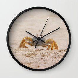 Portrait of a Ghost Crab Wall Clock