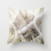 biology Throw Pillows featuring Into the deep by UtArt
