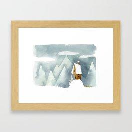 Winter in the Alpes Framed Art Print