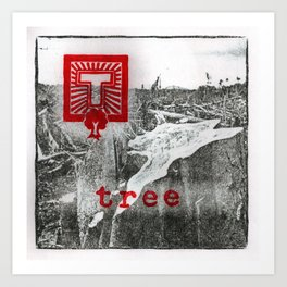 T is for tree Art Print