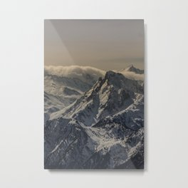 MOUNTAIN - RANGE - SNOW - PHOTOGRAPHY Metal Print
