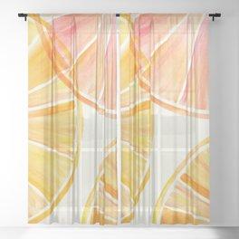 Sunny Citrus Sheer Curtain