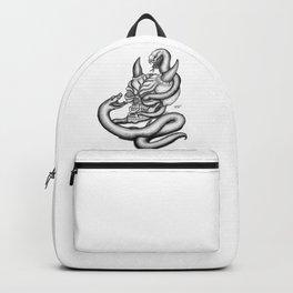 Skull - Devil Heads with Snake Backpack