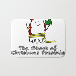 The Ghost of Christmas Presents Bath Mat
