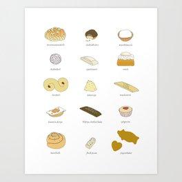 Swedish Cookies Art Print