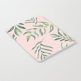 Floating Leaves Pink #society6 #buyart Notebook