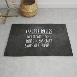 Teacher Duties Rug