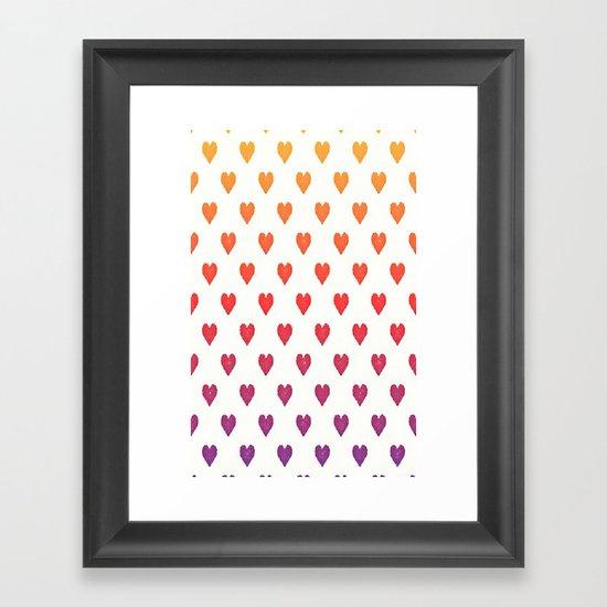 POP heART Framed Art Print