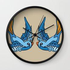 Swallow Tattoo Wall Clock