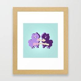 Party Pomeranian Framed Art Print