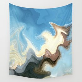 Hair Puzzle: digital abstract art Wall Tapestry