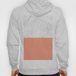 peach marble orange and white marble Hoody