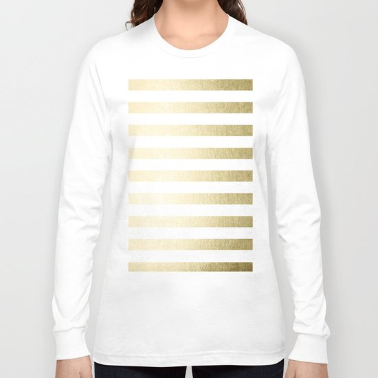 Simply Striped Gilded Palace Gold Long Sleeve T-shirt