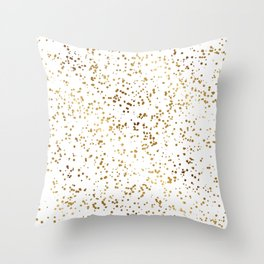 Elegant Luxury Sparkling Gold Confetti Dots Image Throw Pillow