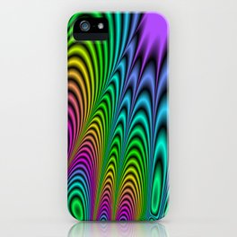 Fractal Op Art 3 iPhone Case