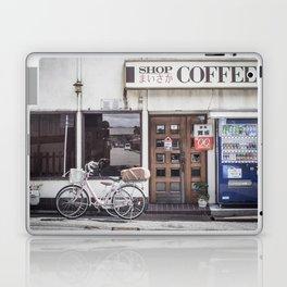 Bike and Coffee Shop in Kyoto Laptop & iPad Skin
