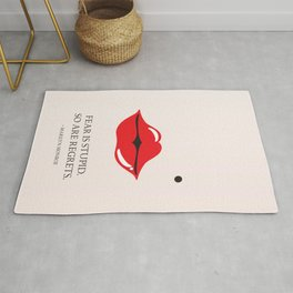 From the lips of Marylin Monroe Rug