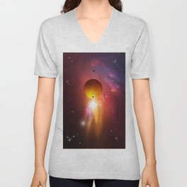 Star dust and interstellar gas. Unisex V-Neck