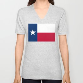 Texas State Flag, Authentic Version Unisex V-Neck
