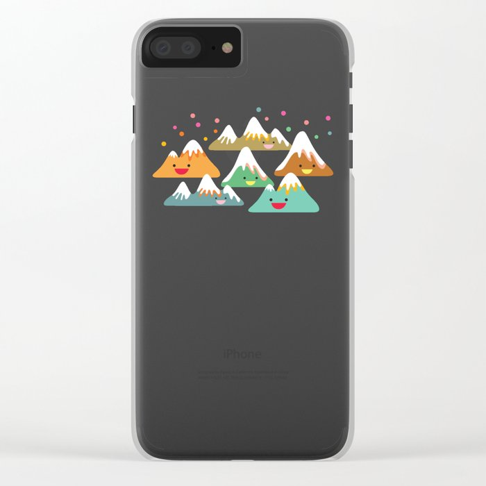 Mountain Friends Clear iPhone Case