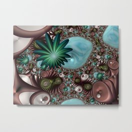 Tropical Trails Fractal Metal Print
