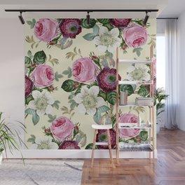 Floral enchant - cream Wall Mural