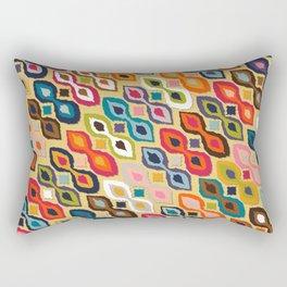 carnival ikat yellow Rectangular Pillow