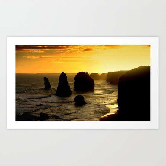 Dusk falls over the Southern Ocean Art Print