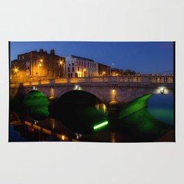 Dublin's River Liffey By Night Rug