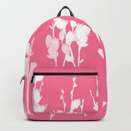 Big Azalea Pink Pussywillow Silhouettes Backpack