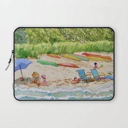 Saturday Afternoon at the Beach in Summer Laptop Sleeve