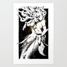 Shimmering Tendrils Art Print