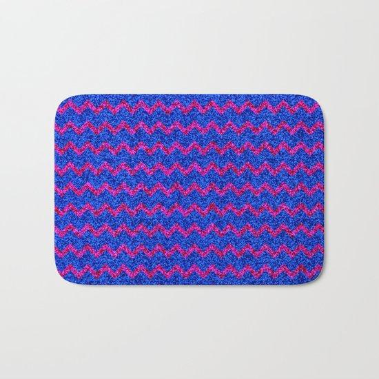 Chevron Glitter Pattern 03 Bath Mat