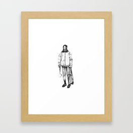 Bomber jacket Framed Art Print