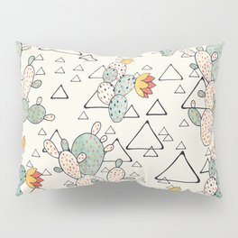 Prickly Pear Cacti and Triangles Pillow Sham