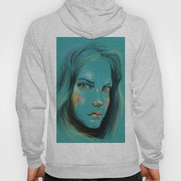 Woman in Blue Hoody