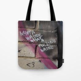 Hare Row - What A Waster Tote Bag