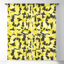 Army Camouflage Yellow Pattern Blackout Curtain