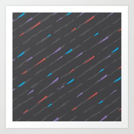 Charcoal Amaretta Rain Art Print