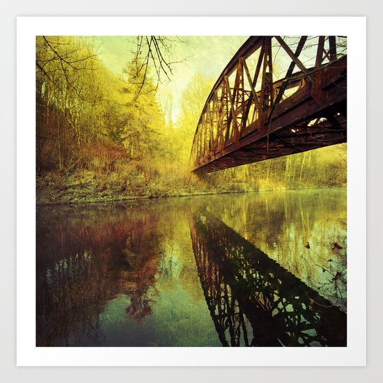Bridge over untroubled water Art Print
