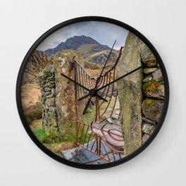 Gate To Tryfan Snowdonia Wall Clock