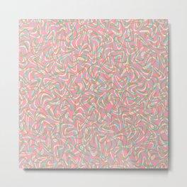 Boomerang Pink Metal Print