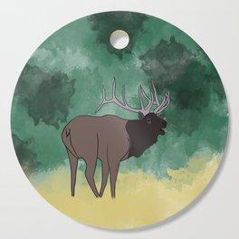 Bull Elk Bugling Cutting Board